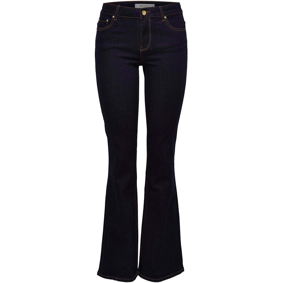jdyelia flared rw dnm noos 15159254 jacqueline de yong jeans dark blue denim