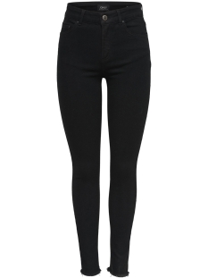 Only Jeans onlBLUSH MID SK ANK RAWJNS REA2343 15167313 Black Denim