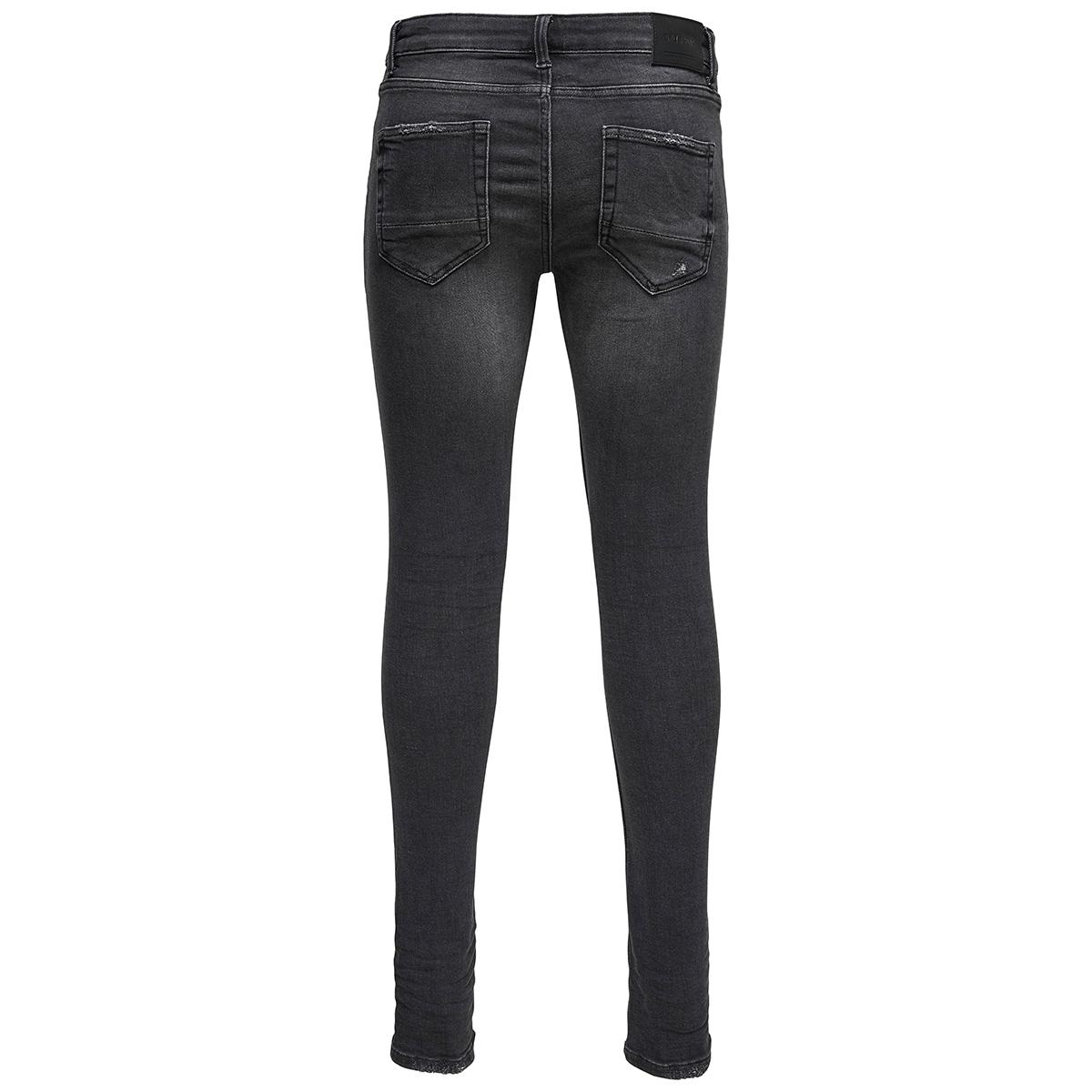 onswarp black washed ld pk 0899 noos 22010899 only & sons jeans black denim