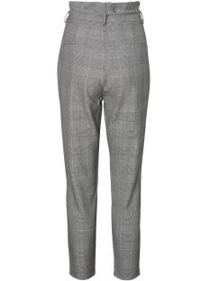 vmeva hr loose paperbag check pant 10209834 vero moda broek grey/white