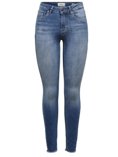 Only Jeans onlBLUSH MID ANK RAW JEANS REA1303 15157996 Dark Blue Denim
