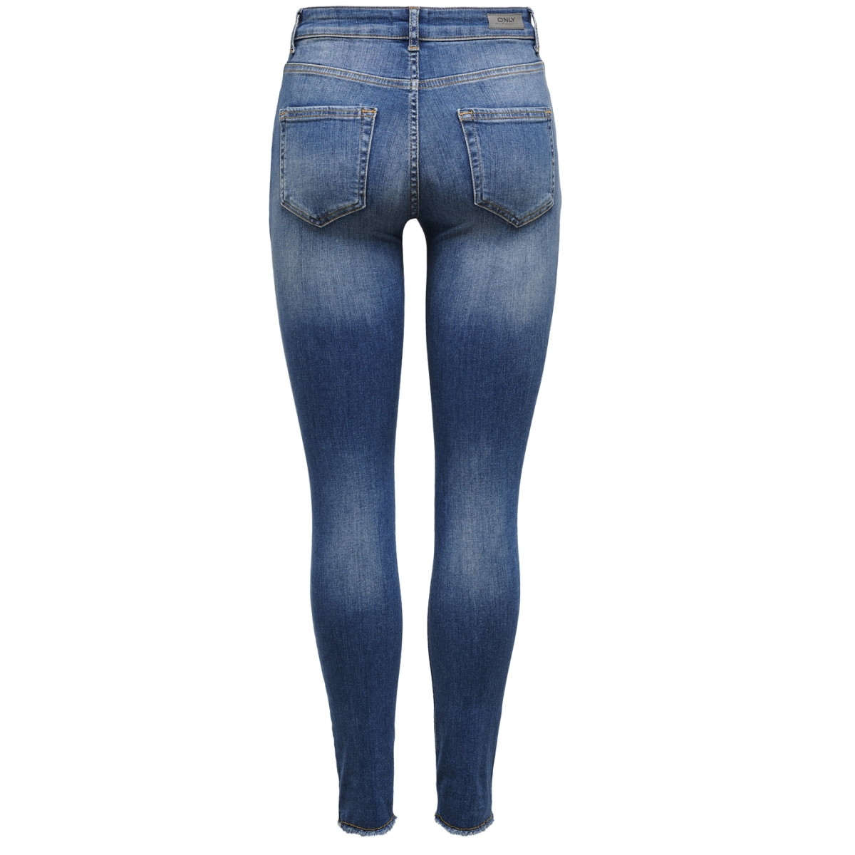 onlblush mid ank raw jeans rea1303 15157996 only jeans dark blue denim