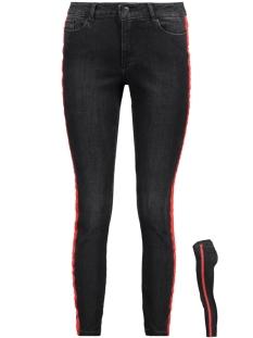 Vero Moda Jeans VMSEVEN MR SLIM TEXT ANKLE JEANS 10205504 Black