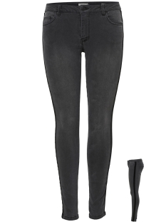 Only Jeans onlCARMEN REG SK VELVET TAPE A JEAN 15163257 Black