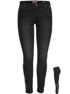 Only Jeans onlKENDELL REG SK ANK FLOWER BJ1271 15162669 Black