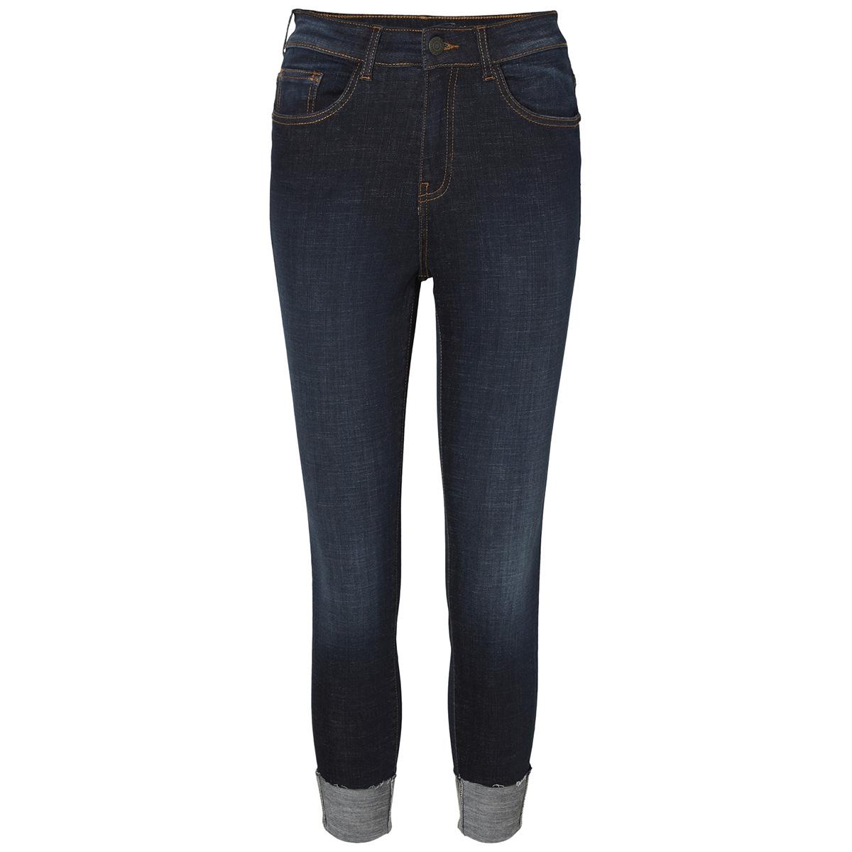 nmlexi hw skinny fold up jeans az00 27003735 noisy may jeans dark blue denim