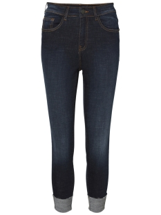 Noisy may Jeans NMLEXI HW SKINNY FOLD UP JEANS AZ00 27003735 Dark Blue Denim