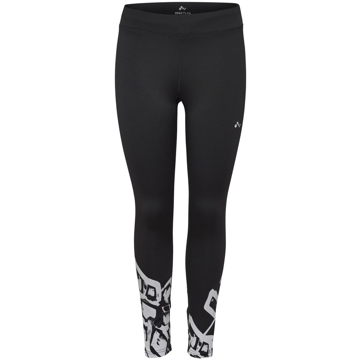 onprafa run brushed tights 15154474 only play sport broek black