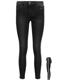 Vero Moda Broek VMSEVEN MR SLIM TEXT ANKLE JEANS 10205504 Black/WORD TAPE