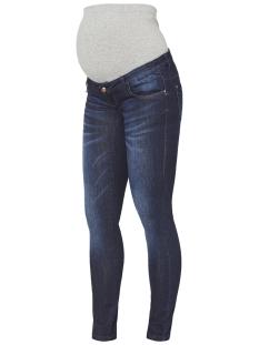 mlreno slim dark blue jeans a. 20009161 mama-licious positie broek dark blue denim