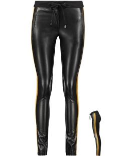 Vila Broek VISTRIPE RW TRACK PANTS 14050726 Black/CATHAY SPICE