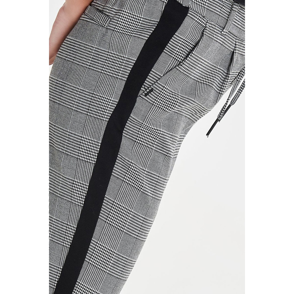 onlpoptrash soft check panel pnt noos 15167399 only broek black