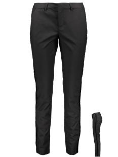 Vero Moda Broek VMLEAH MR VELVET RIBBON PANT 10206379 Black/BLACK GLITTER