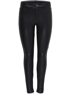Only Broek onlMOLLY REG FAUX LEATHER PANTS OTW 15165882 Black