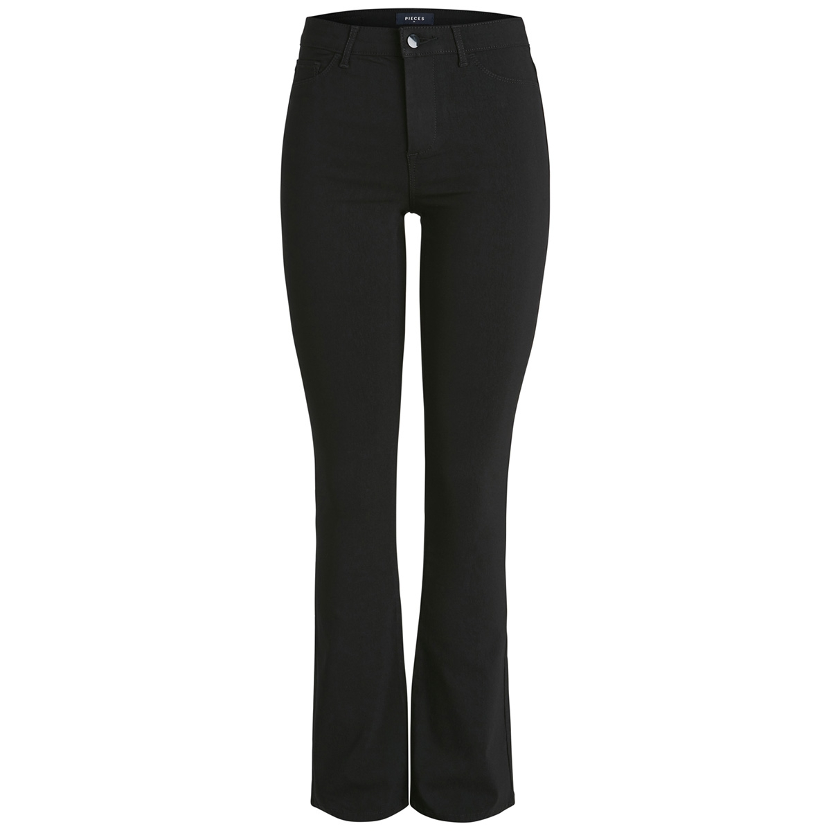 pcskin flared mw pant-cy 17092884 pieces jeans black