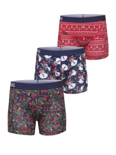 Only & Sons Ondergoed onsNOEL TRUNK 3 PACK  22011642 Haute Red/+ FOLIAGE