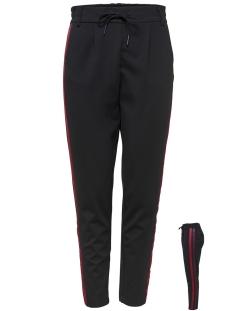 Only Broek onlPOPTRASH EASY TWIX PANT PNT 15162810 Black/RED
