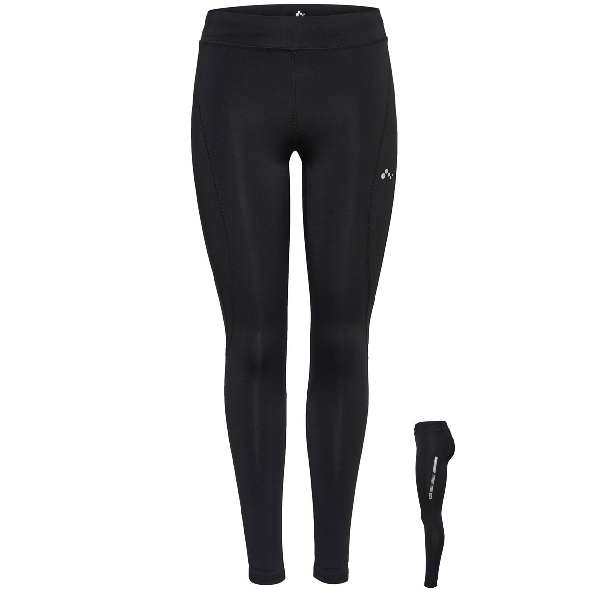 onpvibe run compression tights 15159537 only play sport broek black