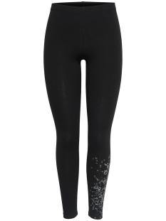 onpkai jersey leggings 15154578 only play sport broek black/gun metal