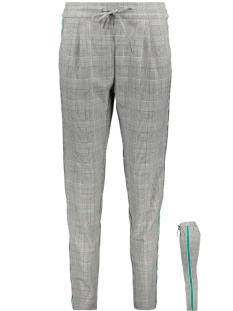 vmeva mr loose string check ribbon pant 10205740 vero moda broek medium grey mel/checked