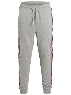 jortape sweat pants 12142949 jack & jones broek light grey melange