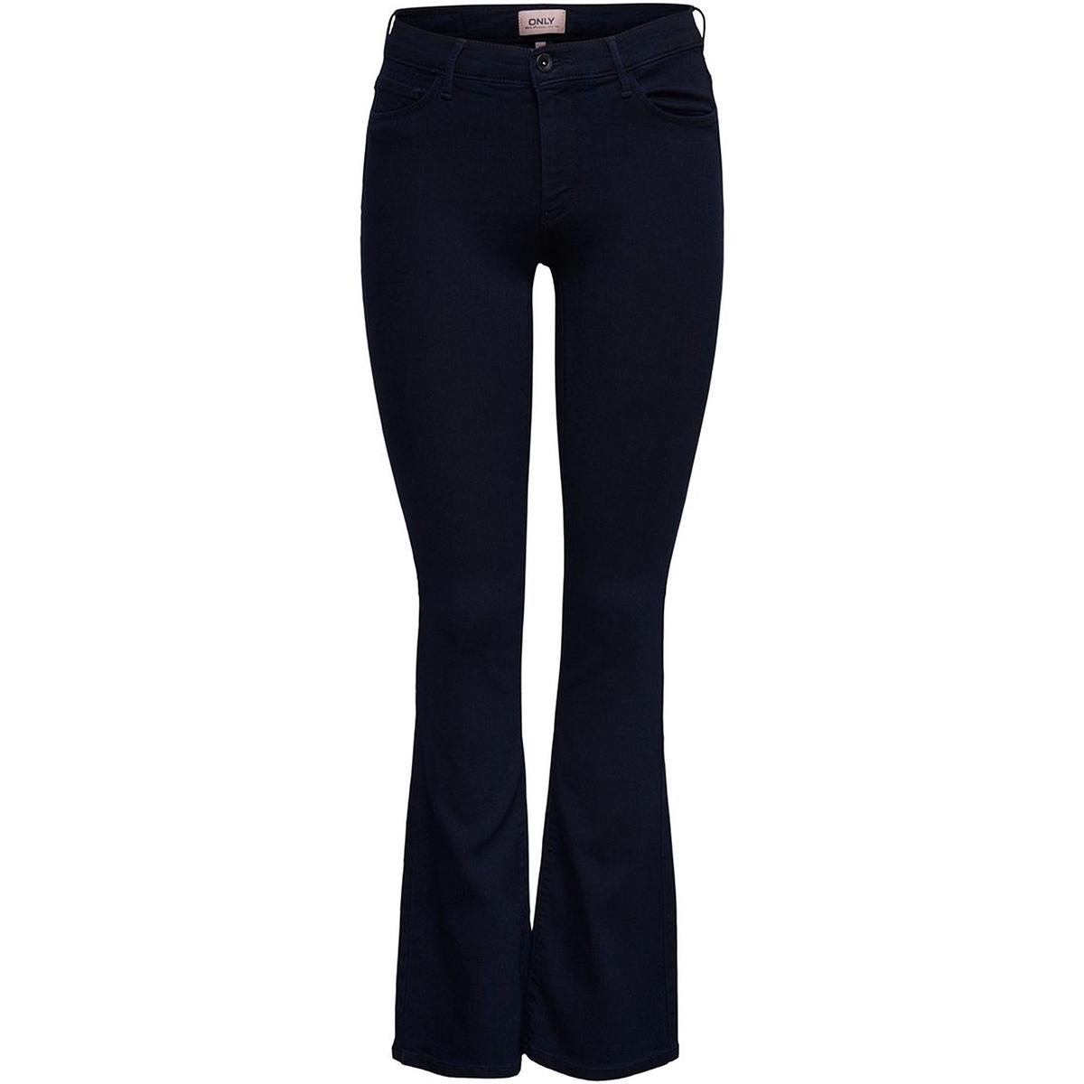 onlhella reg sweet flared dnm jeans 15170480 only jeans dark blue denim