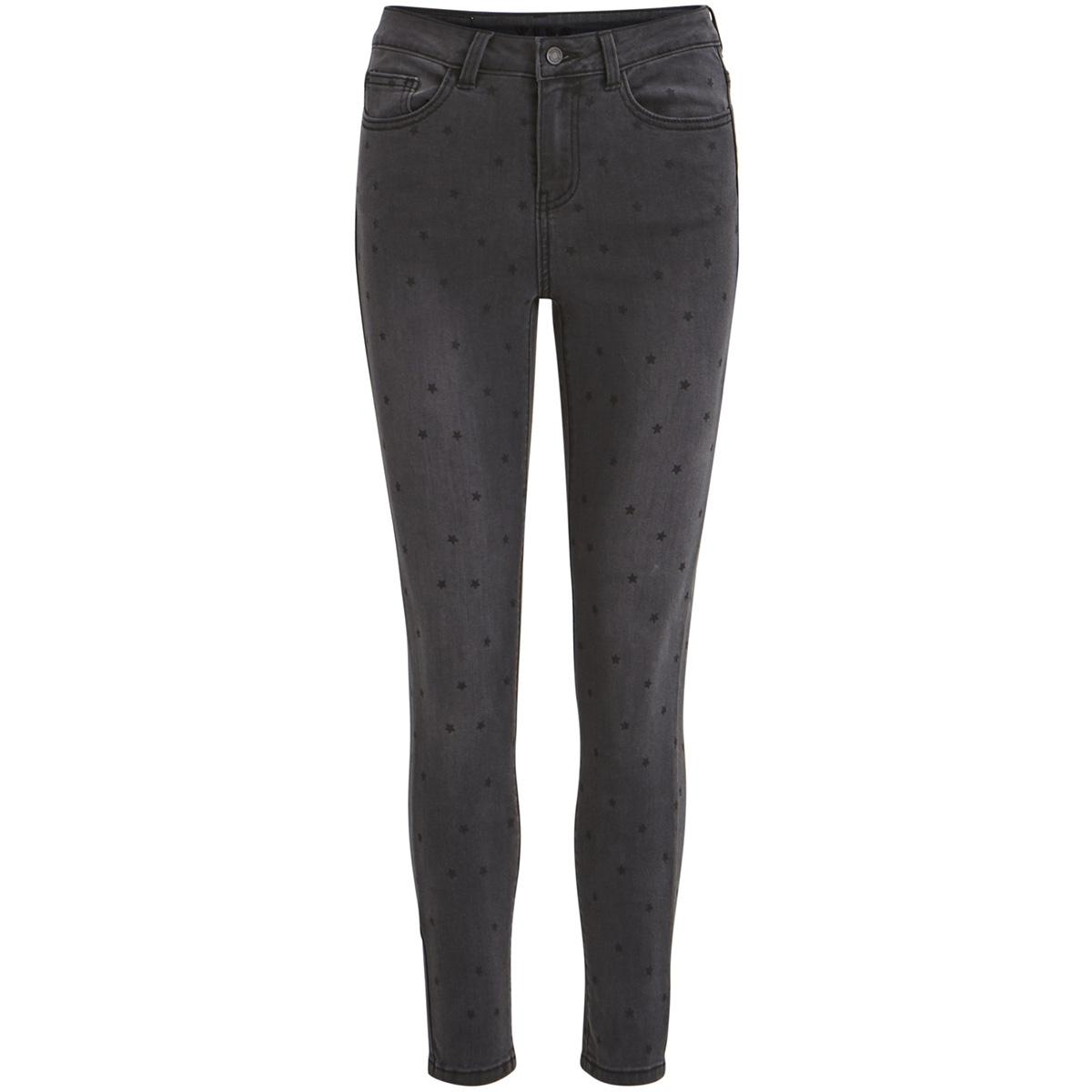 vicommit rw 7/8 star jeans 14051511 vila jeans black