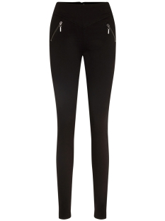 vmhot emma hr zipper skinny pant 10203168 vero moda broek black