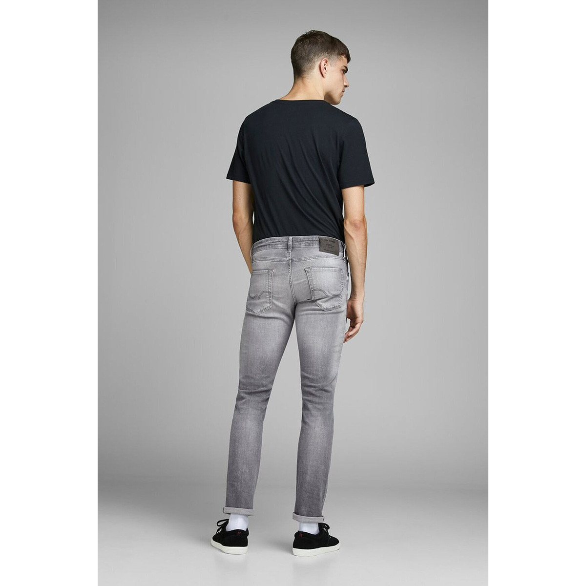 jjiglenn jjicon jj 257 50sps noos 12147024 jack & jones jeans grey denim