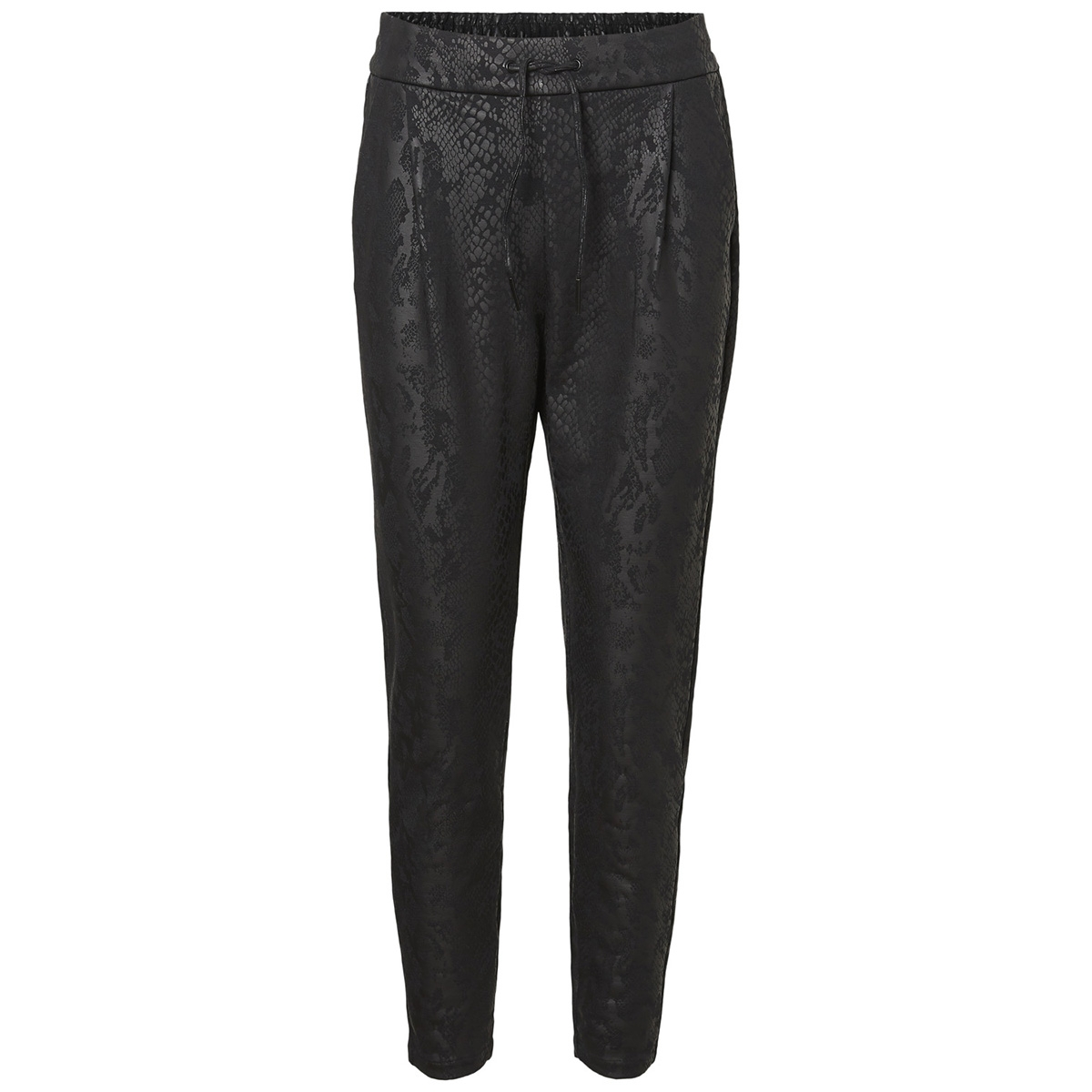 vmeva mr loose snake coating pant 10207808 vero moda broek black