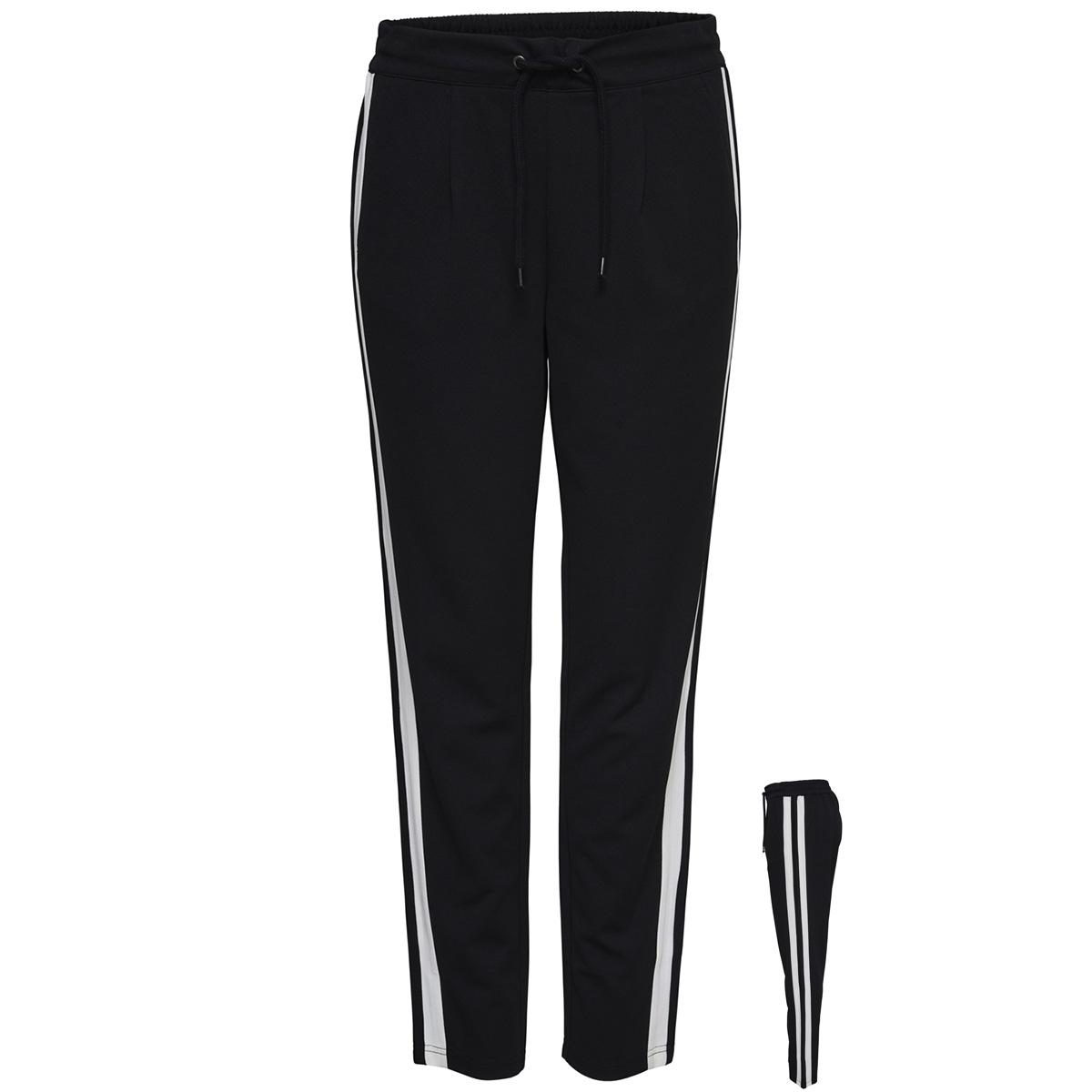 jdyviolet pant jrs exp 15167871 jacqueline de yong broek black/track stripes