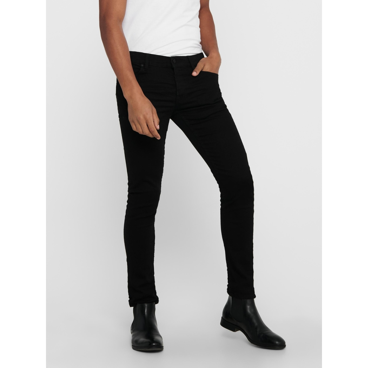 onsloom black dcc 0448 noos 22010448 only & sons jeans black denim