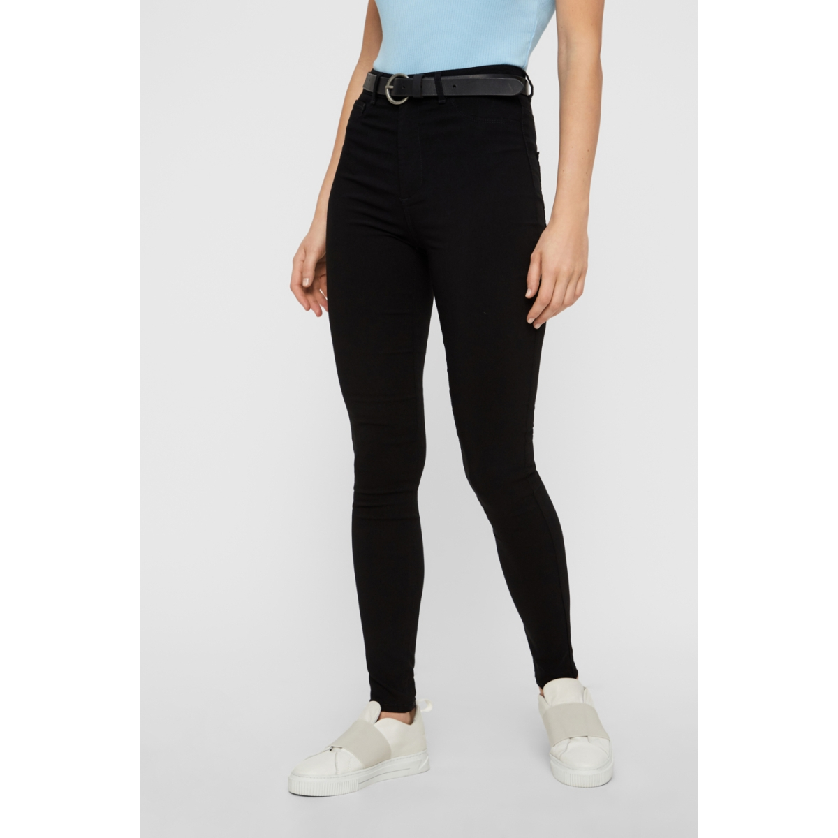 pchighskin wear jeggings noos 17080560 pieces jeans black