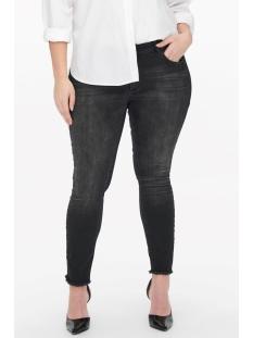 Only Carmakoma Jeans carWILLY REG SKINNY ANK JEANS BLACK 15174949 Black