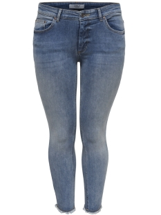 Only Carmakoma Jeans carWILLY REG  SKINNY ANK  JEANS REA 15166945 Light Blue Denim