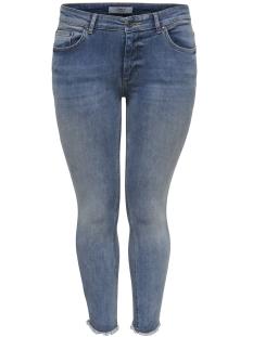Only Carmakoma Jeans carWILLY REG  SKINNY ANK  JEANS REA 15166945 Light Blue Denim