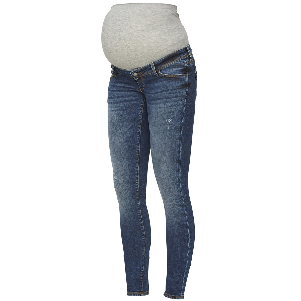 mlohio slim blue jeans 20009315 mama-licious positie broek blue denim