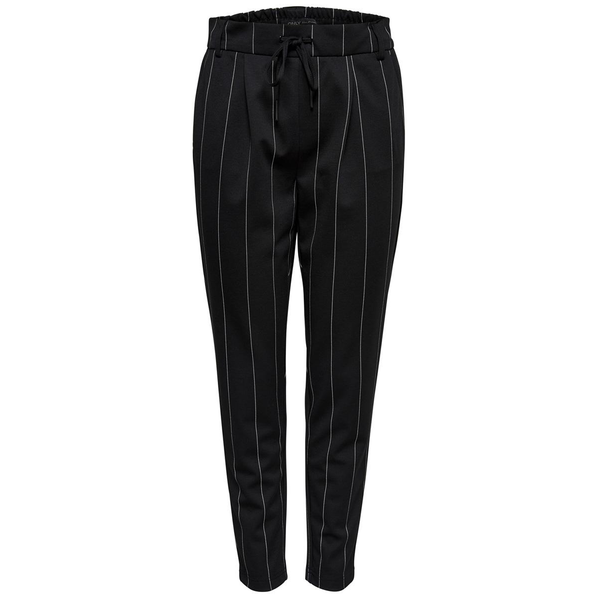 onlpoptrash tempo stripe pant pnt noos 15170470 only broek black/white