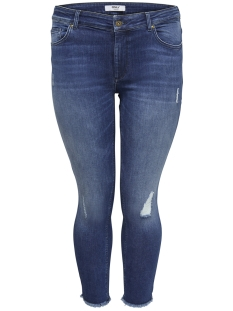 Only Carmakoma Jeans carWILLY REG SKINNY ANK JEANS MBD NOOS 15174950 Medium Blue Denim