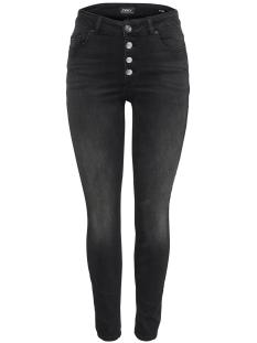 onlblush hw button dnm jeans rea109 15179112 only jeans black denim
