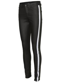 vmseven mr ss smooth coated panel p 10217053 vero moda broek black/bright white