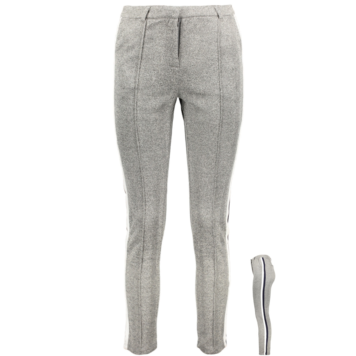 visillas rw 7/8 pant 14050448 vila broek medium grey melange