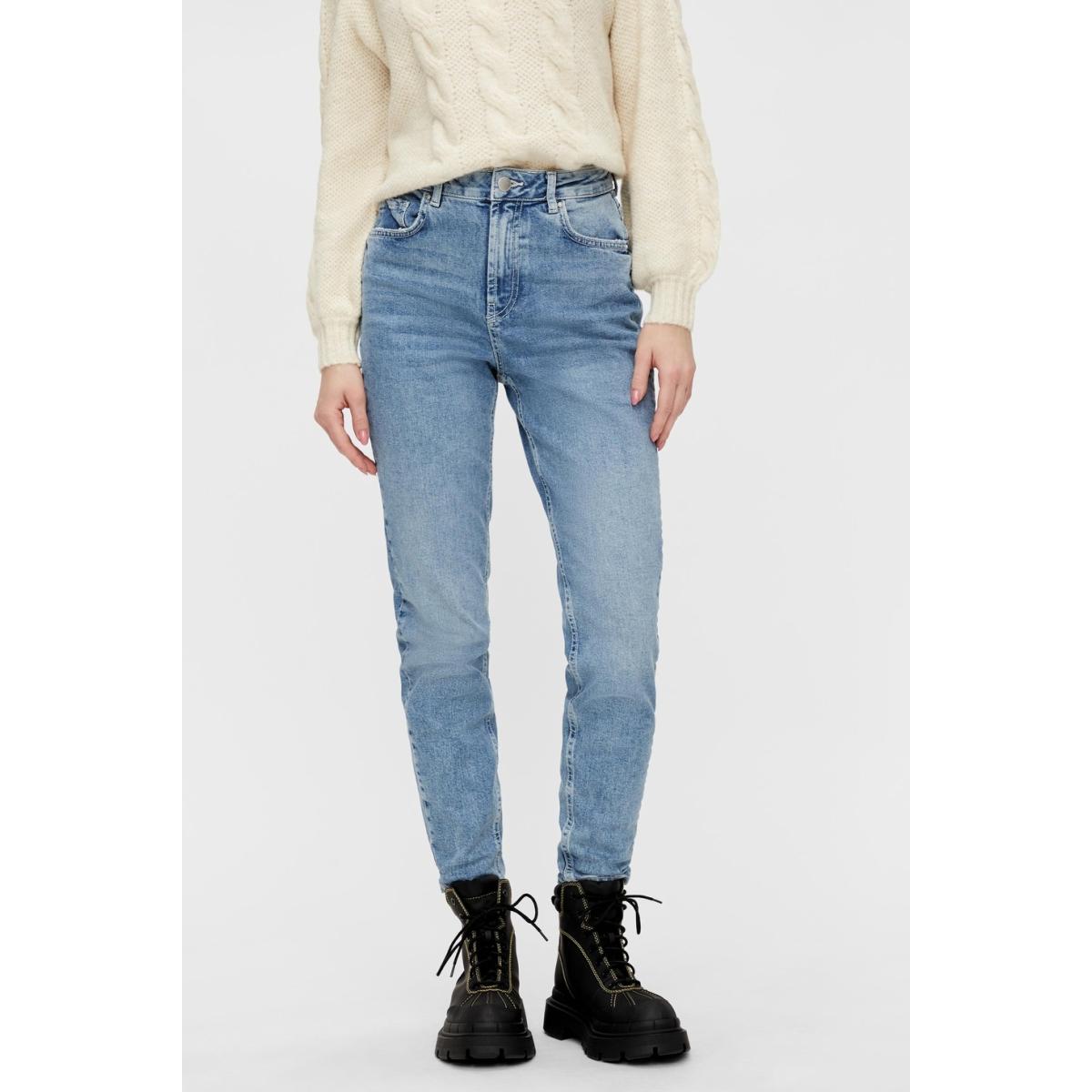 pcleah mom hw ank lb110-ba/noos 17094596 pieces jeans light blue denim