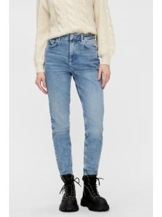Pieces Jeans PCLEAH MOM HW ANK LB110-BA/NOOS 17094596 Light Blue Denim
