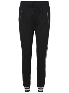 Vero Moda Broek VMEVA MR LOOSE STRINGS RIB PANT 10211627 Black