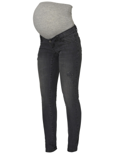Mama-Licious Positie broek MLJULIA SLIM GREY WASHED JEANS A. 20009464 Medium Grey Denim
