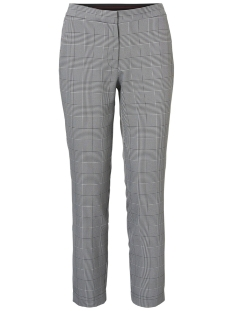 Noisy may Broek NMMELISSA NW FITTED CHECKED PANT X2 27006364 Black/BLACK AND WHITE
