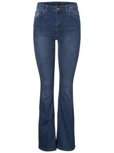 pcdelly dlx flared mw mb215-ba 17095189 pieces jeans medium blue denim
