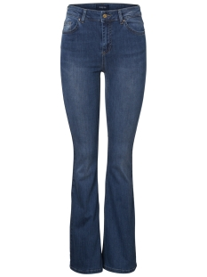 Pieces Jeans PCDELLY DLX FLARED MW MB215-BA 17095189 Medium Blue Denim