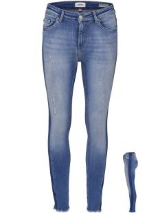 Only Jeans onlBLUSH MID ANK RAW PANEL JEANS RE 15162364 Medium Blue Denim